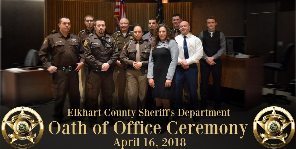 Nine new ECSD officers accept the Oath of Office